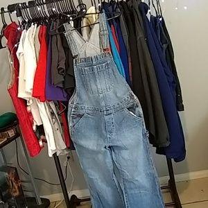 Tommy Hilfiger bootcut denim overalls unisex Large